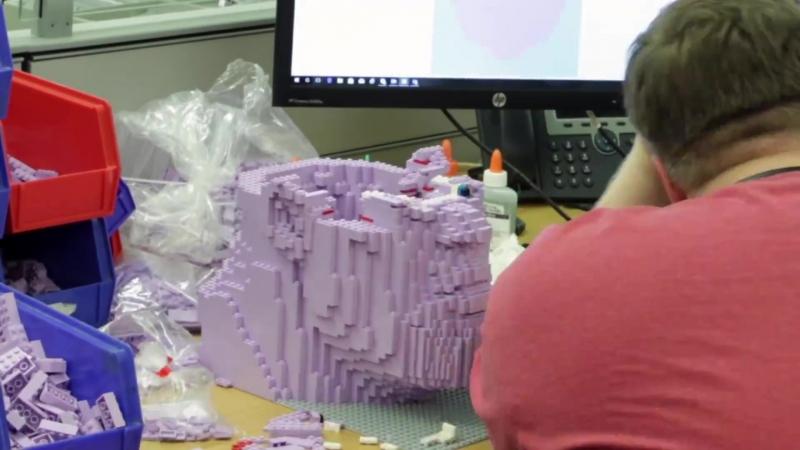Процесс создания Таноса из LEGO для Comic-Con 2018.
