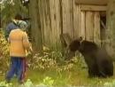 Медведь напал на женщину, которая затеяла его покормить