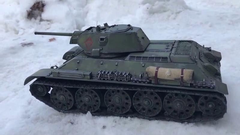 Танк Т 34 76 1942 СТЗ 1 16 Весь из Металла Видео 5