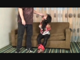 little Asian girl kidnapped on her couch