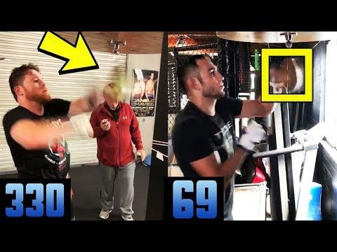 BOXING vs MMA- Canelo vs Tony Ferguson- Who is faster on Speed bag?