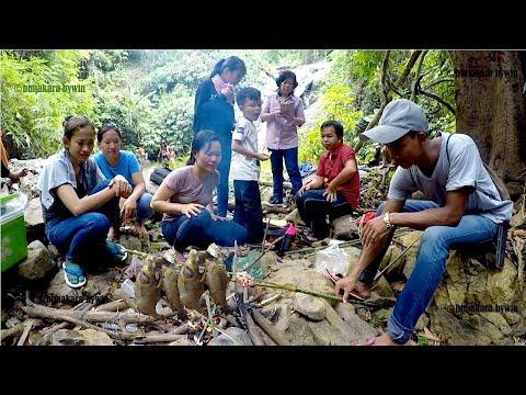 Picnic Lunch at OKrouch Waterfall at Samlot District, Battambang Province