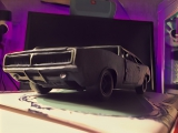 слепил Dodge charger 69 из ПЛАСТИЛИНА