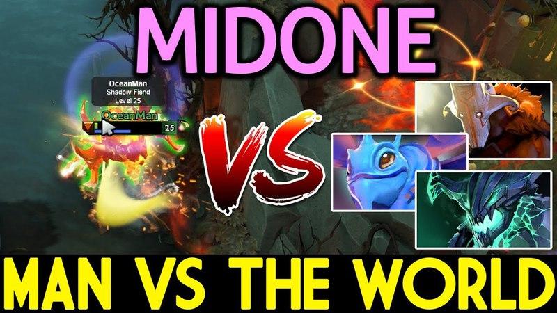 MidOne [Shadow Fiend] One Man VS. The World 7.13 Dota 2
