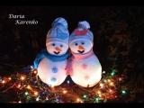 Снеговик своими руками за 5 минут.  Мастер класс