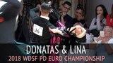 Donatas Vezelis &amp Lina Chatkeviciute Медленный фокстрот 2018 WDSF PD Чемпионат Европы - 12