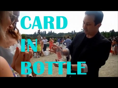 Street Magic / Wedding Magicians Magic / Signed Card In Bottle / Andy Field 2015