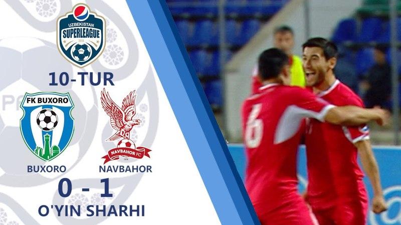 Superliga. Buxoro - Navbahor - 0:1   O'yin sharhi (06.05.2018)