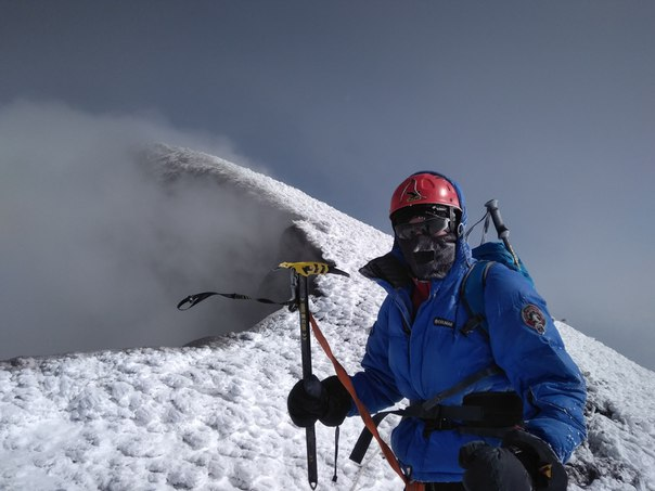 Александр Коробка из Усть-Илимска взошёл на вершину Ключевской Сопки