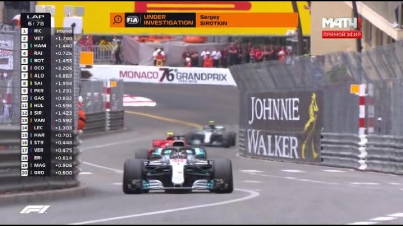 F1 2018 Гран При МОНАКО - ГОНКА Formula1 Grand Prix 2018