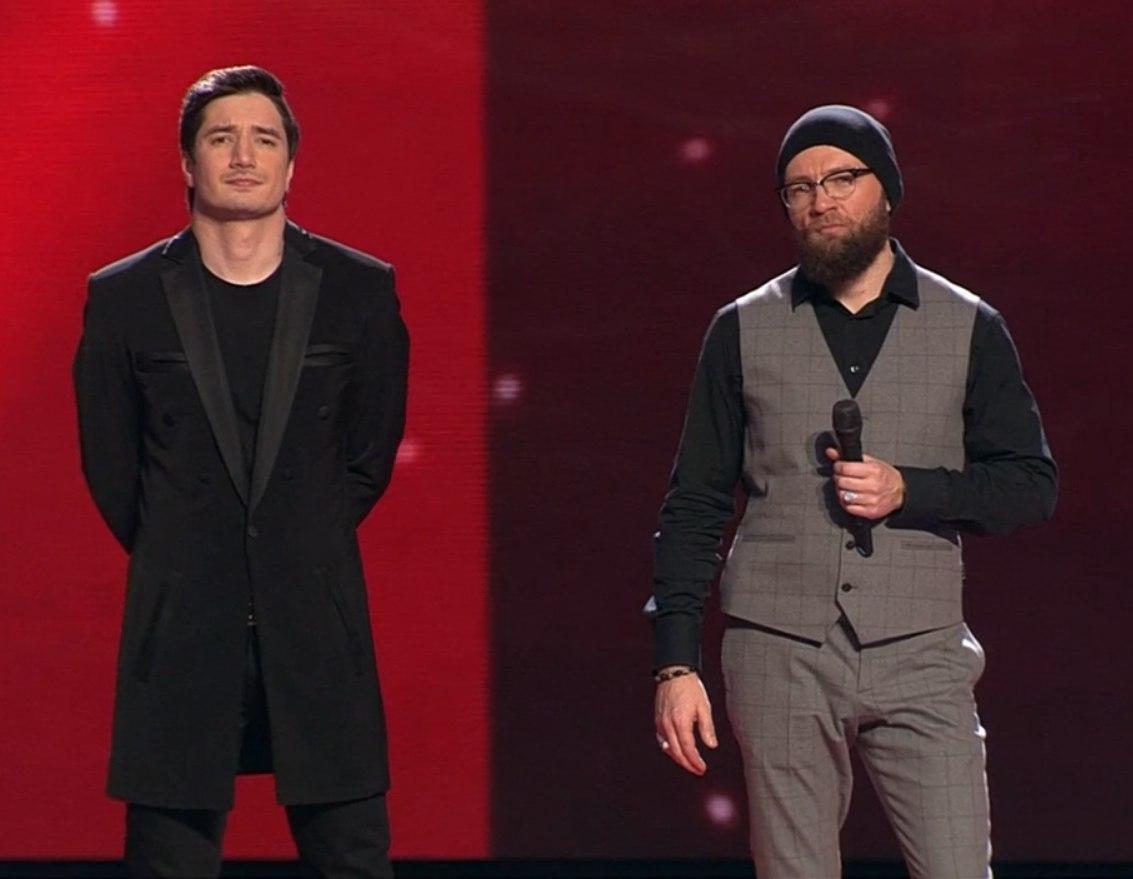 Селим Алахяров и Тимофей Копылов в финале шоу Голос-2017