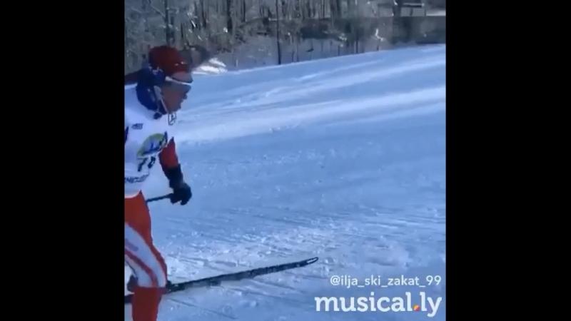 Лыжи. Бег в гору.