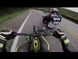 40 athletes, 20 switchbacks, 4 kilometers. This is Red Bull Trike Strike.