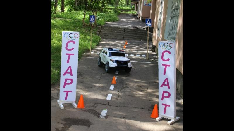 катание на электромобилях в детском саду «Дочки и сыночки»
