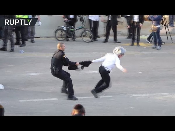 RAW Ultra Orthodox Jews clash with cops over military draft