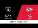 NFL 2017 / W14 / Oakland Raiders - Kansas City Chiefs / CG / EN