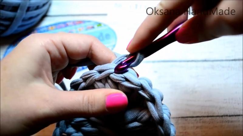 Поясная сумка из трикотажной пряжи. 2-2 часть МК. Crochet waist bag