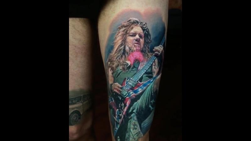 Dimebag Darrell - artist Denis Sivak Tattoo artist from New York