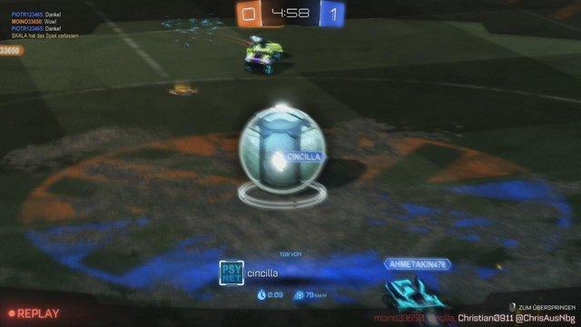 Eine sehr kurze Runde Rocket League