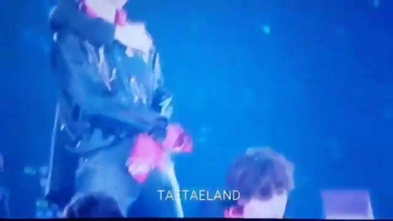 The way seokjin slides his hand up taehyungs arm