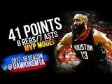 James Harden Full Highlights 2018 WCSF Game 1 Houston Rockets vs Utah Jazz - 41-8-7! FreeDawkins