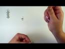 Серьги ромбики из бусин