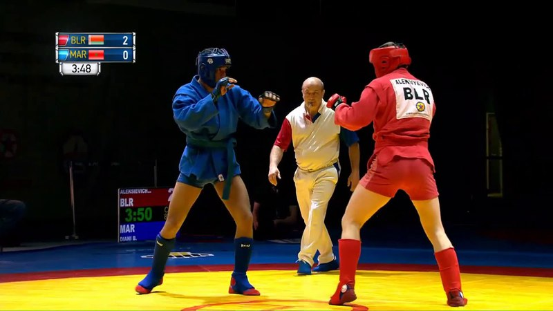 ALEKSIEVICH Yauheni (BLR) vs DIANI Badreddine (MAR). Sambo World Cup Kharlampiev Memorial 2018