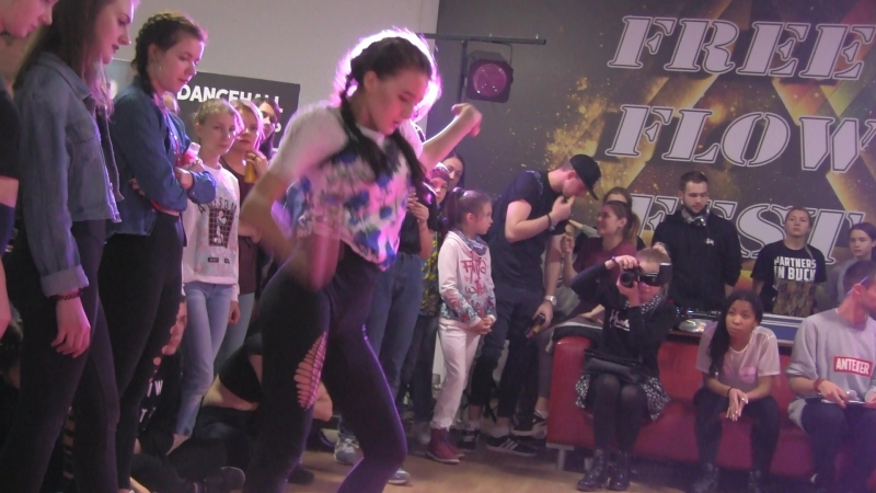 Free Flow Fest 2017. Dancehall pro 14. Линали vs. Федина