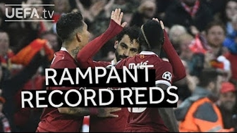 SALAH, FIRMINO, MANÉ: Liverpool trio make history