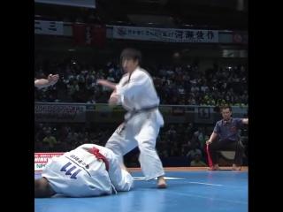 Отличный Иппон в прыжке с вертухи в Кёкусинкай карате. Подготовка бойца https://vk.com/oyama_mas