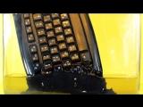 Растворение  клавиатуры в ацетоне