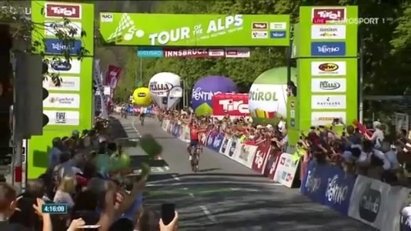 Велогонщик команды Bahrain Merida Марк Падун выиграл 5-й заключительный этап престижной многодневки категории 2HC Тур Альп! 1