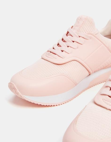 Комбинированные кроссовки с сетчатой деталью