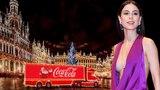 Lena Meyer-Landrut mit Satelitte auf dem Coca-Cola Truck in Leipzig, 2016 Coca-Cola Truck Tour