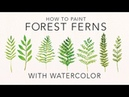 EASY Watercolor Tutorial Forest Ferns