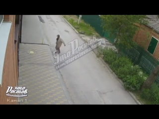 В Ростове злобная старушка периодически побрасывает в соседний двор фекалии, мусор и отходы. -