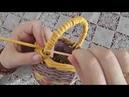 Декоративная ручка закрутка для корзины Плетение из газет