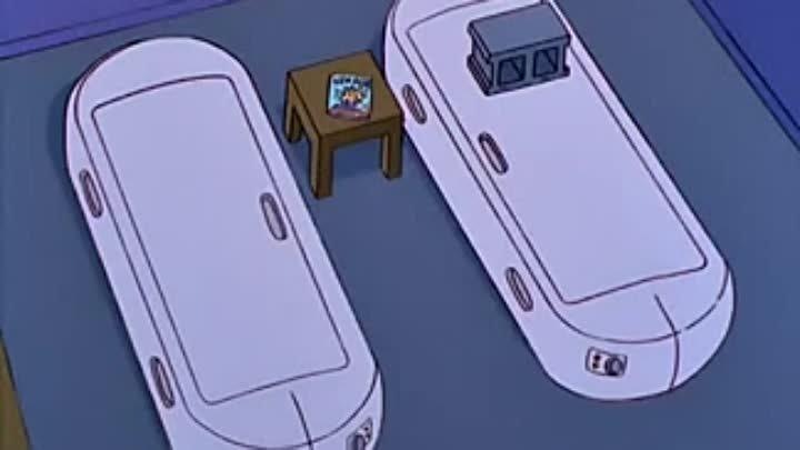 The Simpsons — Гомер и Лиза на сеансе флоатинга (часть 2)