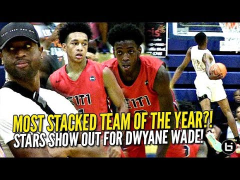 Dwyane Wade Watches Zaire Most STACKED Team of Year Tre Mann Scottie Lewis Niven Glover GO OFF