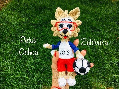 Mascota Mundial Futbol 2018 en amigurumi Zabivaca by Petus (English Subtitles) 1a. parte