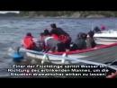 Fake News- vom feinsten- Gestellte Szene für Aufnahmen mit -ertrinkenden Flüchtlingen