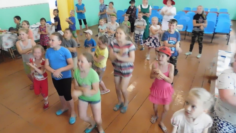 -Открытие детского лагеря в Ож-Пурге , Чуча-чача,танец-повторялка