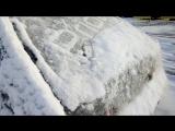 Как правильно чистить снег с машины)