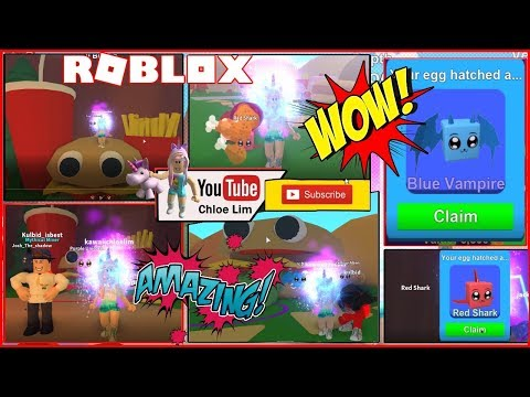 🍔🍞 FOOD LAND - BLUE VAMPIRE! Playing with Amazing Friends! Roblox Mining Simulator!
