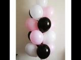 Сочетание белых, розовых и черных
