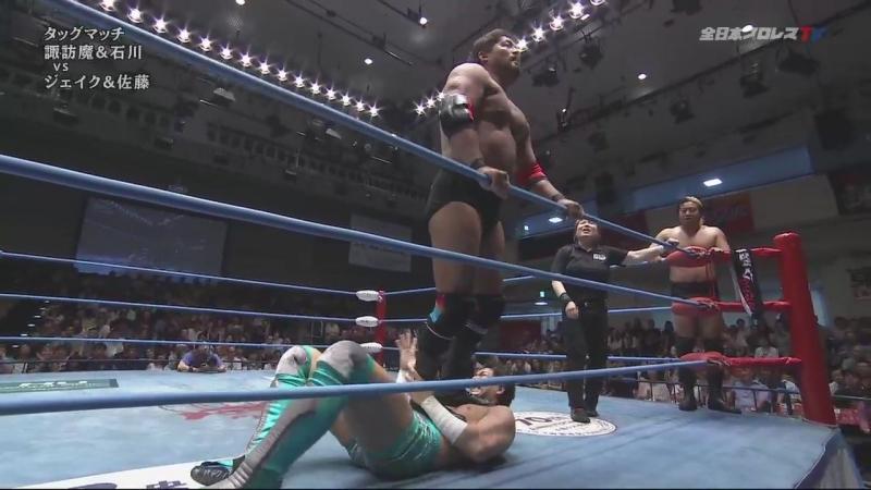 Jake Lee, Keiichi Sato vs. Suwama, Shuji Ishikawa (AJPW - Summer Action Series 2018 - Day 1)