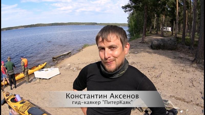 Гид Константин Аксенов на озере Саймаа