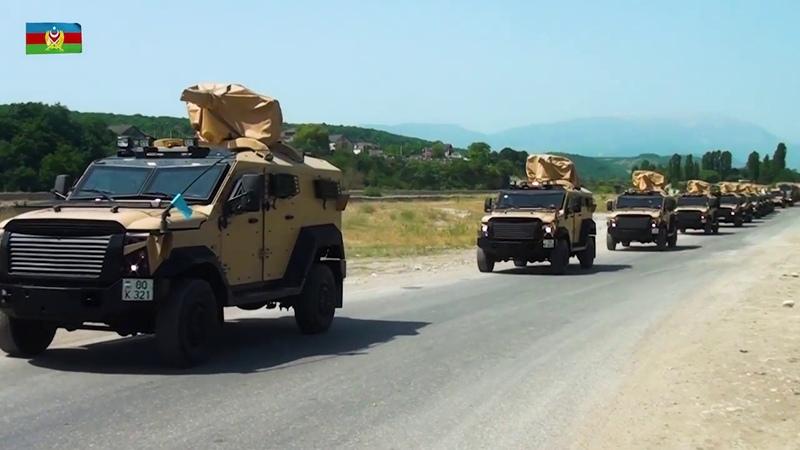 Təlimlərdə iştirak edən qoşunların hərəkəti - 02.07.2018