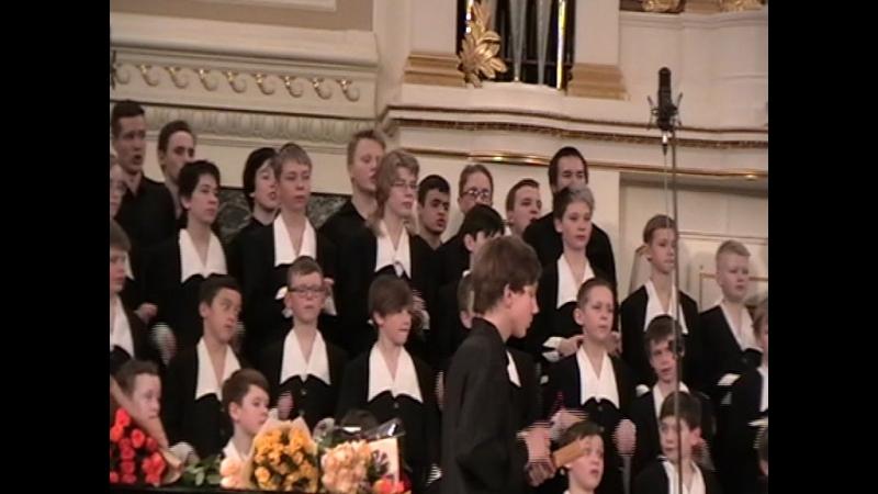 Юбилейный концерт хоровой студии мальчиков и юношей СПб. 13 апреля 2018 года. Порушка-Поранья