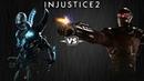Injustice 2 - Синий Жук против Дэдшота - Intros Clashes rus